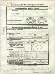 Německý standardní recept na brýle z roku 1924 obsahuje víc informací než současný recept v České republice. Tato skutečnost nikoho nevzrušuje (ani zdravotní pojišťovny, ani oftalmology a už vůbec ne české optiky-optometristy).